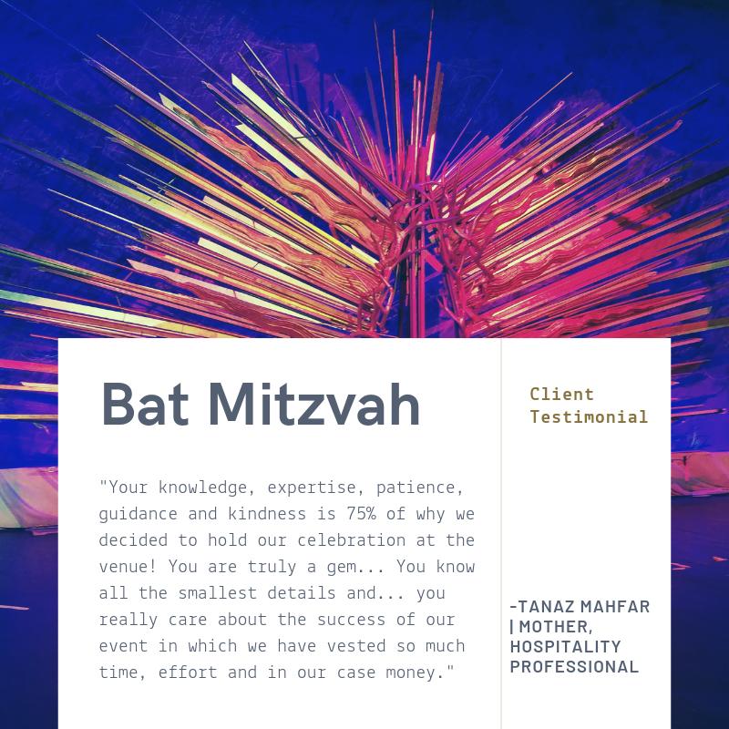 Testimonial: Tanaz Mahfar - Bat MItzvah - Df Events